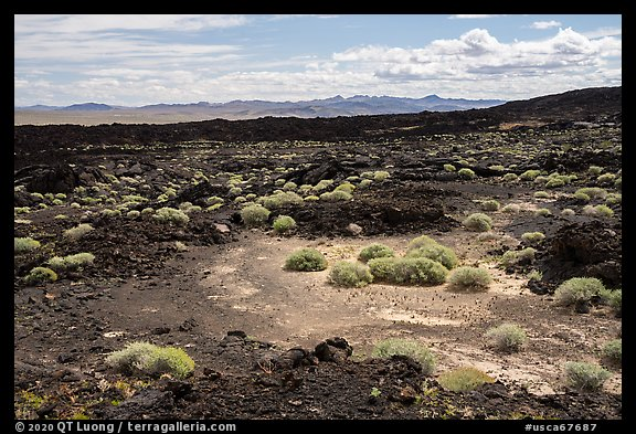 Lavic Lake volcanic field. Mojave Trails National Monument, California, USA (color)