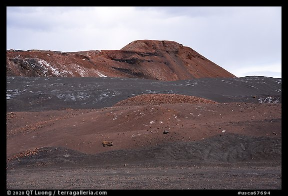 Pisgah Crater cinder cone. Mojave Trails National Monument, California, USA (color)