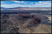 Aerial view of Pisgah Crater and lava flow. Mojave Trails National Monument, California, USA ( color)