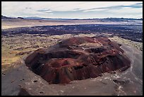 Aerial view of Pisgah cinder cone and Lavic Lake volcanic field. Mojave Trails National Monument, California, USA ( color)