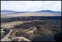 Aerial view of Lavic Lake volcanic field. Mojave Trails National Monument, California, USA ( color)