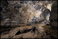 Inside lava tube, Lavic Lake volcanic field. Mojave Trails National Monument, California, USA ( color)