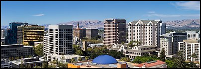 City skyline. San Jose, California, USA (Panoramic color)