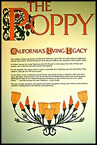 Sign about the California Poppy. Antelope Valley, California, USA ( color)