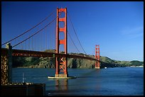 Golden Gate bridge, afternoon. San Francisco, California, USA