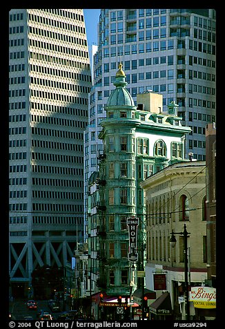 Columbus Tower. San Francisco, California, USA (color)