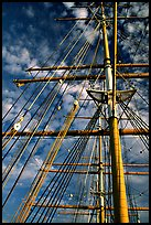 Masts of the Balclutha, Maritime Museum. San Francisco, California, USA ( color)