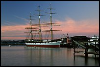 The Balclutha at sunset. San Francisco, California, USA ( color)