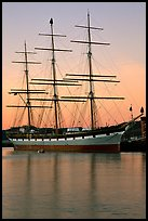 The Balclutha at sunset. San Francisco, California, USA (color)