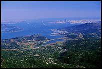 San Francisco and the Bay Area seen from Mt Tamalpais. California, USA ( color)