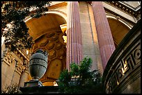 Detail of the Palace of Fine arts. San Francisco, California, USA (color)