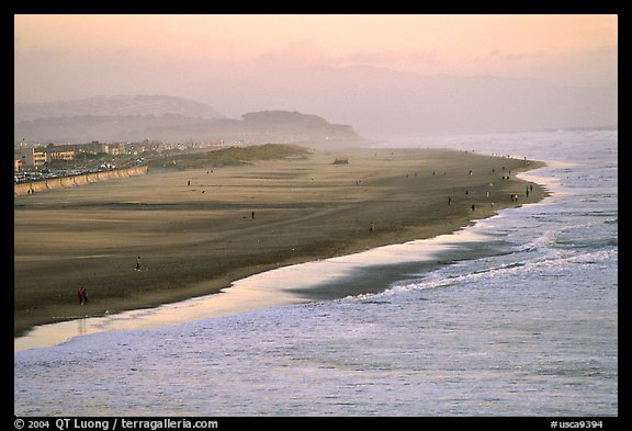 Ocean Beach at sunset. San Francisco, California, USA