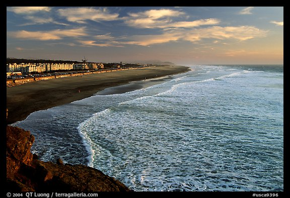 Ocean Beach at sunset. San Francisco, California, USA (color)