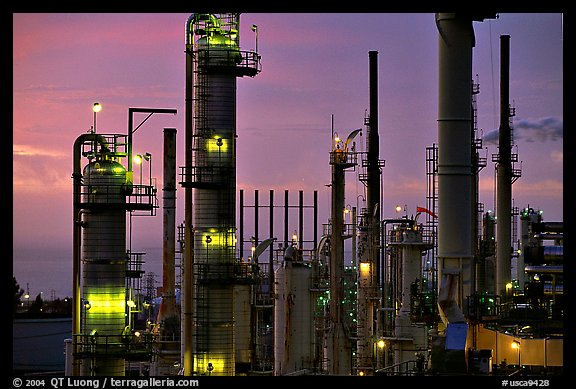 Pipes of Phillips 66 Oil Refinery, Rodeo. San Pablo Bay, California, USA (color)