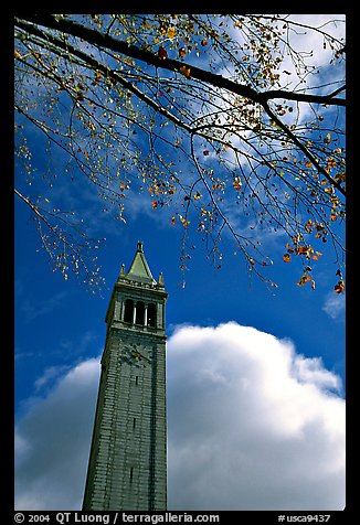 The Campanile, University of California at Berkeley campus. Berkeley, California, USA (color)