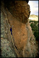 Rock climber. Pinnacles National Park, California, USA. (color)