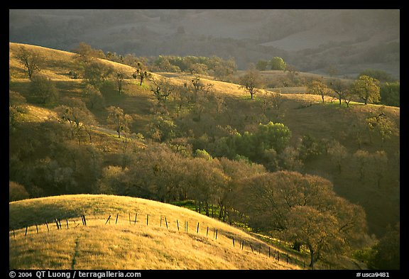 Hills, Joseph Grant County Park. San Jose, California, USA (color)