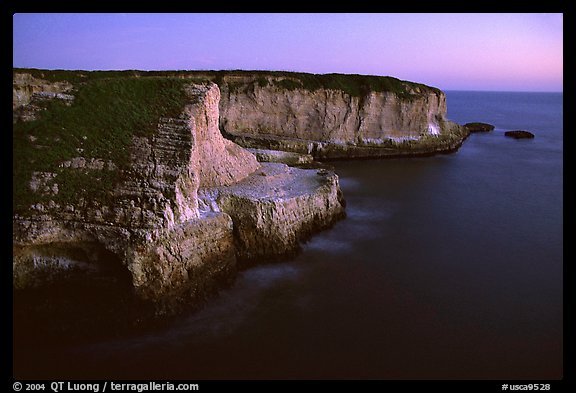 Cliffs at dusk, Wilder Ranch State Park. California, USA (color)