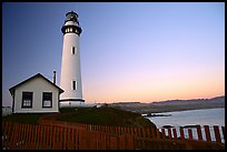 Pigeon Point Lighthouse, dusk. San Mateo County, California, USA ( color)