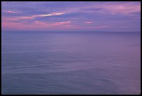 Pastel sunset  over the Ocean. Big Sur, California, USA ( color)