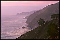 Coastline at sunset. Big Sur, California, USA ( color)