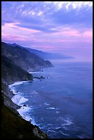 Coast at sunset. Big Sur, California, USA ( color)