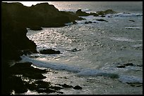 Rocks and surf, Garapata State Park, afternoon. Big Sur, California, USA ( color)