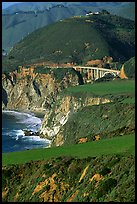 Bluffs and Bixby Creek Bridge. Big Sur, California, USA ( color)