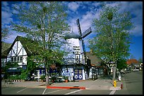 Windmill, Danish village of Solvang. California, USA (color)