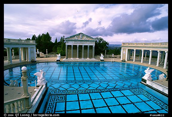 Neptune Pool at Hearst Castle. California, USA (color)