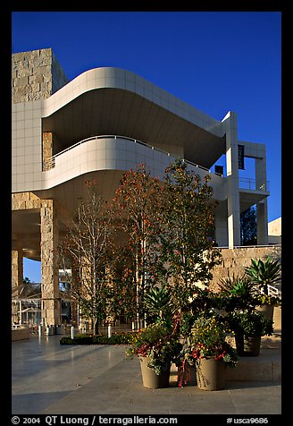 Getty Museum, designed by Richard Meier, Brentwood. Los Angeles, California, USA (color)
