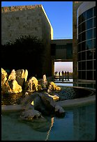 Courtyard, Getty Museum, Brentwood. Los Angeles, California, USA ( color)