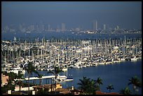 Harbor and skyline. San Diego, California, USA ( color)