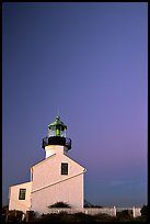 Old Point Loma Lighthouse, sunset. San Diego, California, USA ( color)