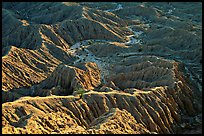 Erosion formations seen from Font Point. Anza Borrego Desert State Park, California, USA (color)