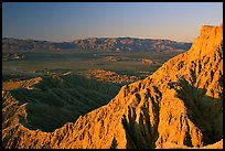Eroded badlands at sunrise, Font Point. Anza Borrego Desert State Park, California, USA