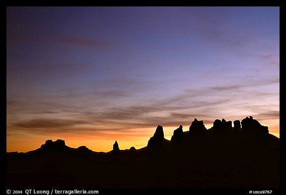 Trona Pinnacles, dusk. California, USA (color)