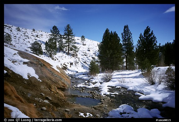 Buckeye Hot Springs in winter. California, USA (color)