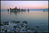 Tufa towers at dusk. Mono Lake, California, USA (color)