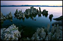 Tufa formations at dusk, South Tufa area. Mono Lake, California, USA (color)