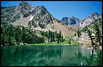 Emerald waters of a mountain lake, Inyo National Forest. California, USA