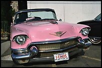 Classic Pink car, Bishop. California, USA (color)