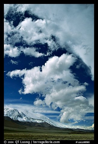 Clouds and Sierra, Owens Valley. California, USA (color)