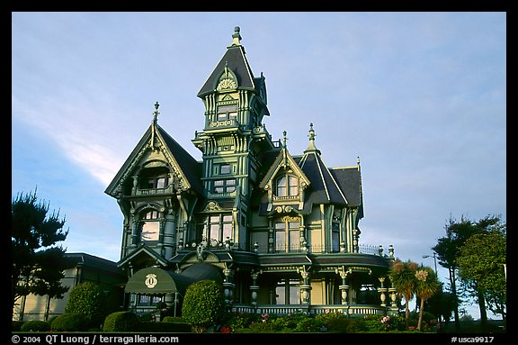 Carson Mansion on M Street, Eureka. California, USA (color)