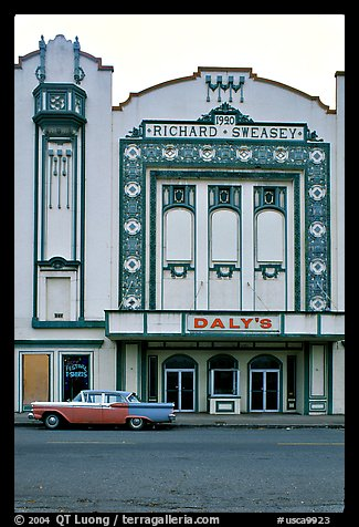 Former Loew State Theatre that became Daleys Department Store, Eureka. California, USA (color)