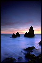 Seastacks, Rodeo Beach, Dusk. California, USA ( color)