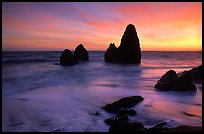 Seastacks, Rodeo Beach, Sunset. California, USA
