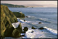 Cliffs and Point Bonita Lighthouse, late afternoon. California, USA ( color)