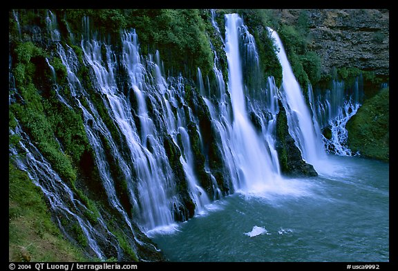 Burney Falls, McArthur-Burney Falls Memorial State Park. California, USA (color)