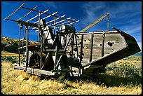 Wooden agricultural machine. California, USA ( color)